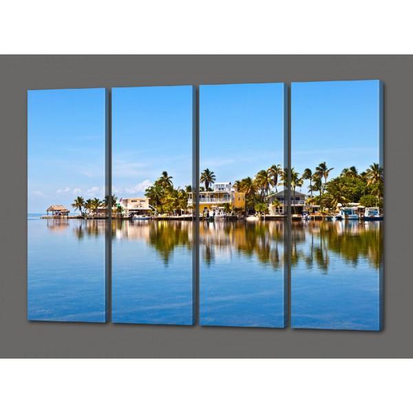 Сегментная (модульная) картина Райский уголок 88*64 см Код: 477.4к.88