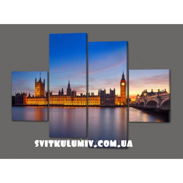 Модульная картина Биг Бен. Лондон 120*93 см Код: 441.4к.120