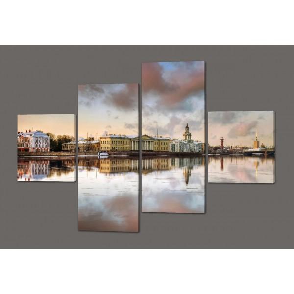 Модульная картина Пейзаж(Северная Русь)160*114 см Код: 403.4к.160