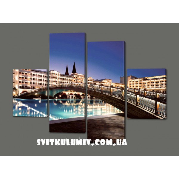 Модульная картина Мост в Турции 120*93 см Код: 369.4к.120