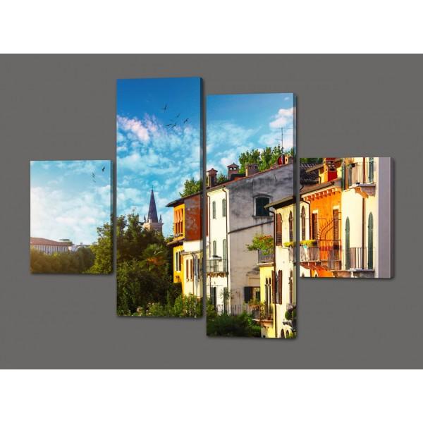 Модульная картина Город 120*93 см Код: 352.4к.120