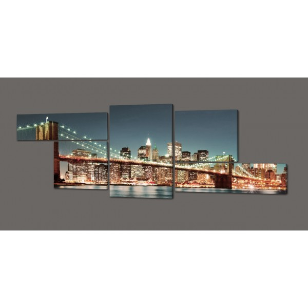Модульная картина Бруклинский мост 263*100 см Код: 352.5k.260