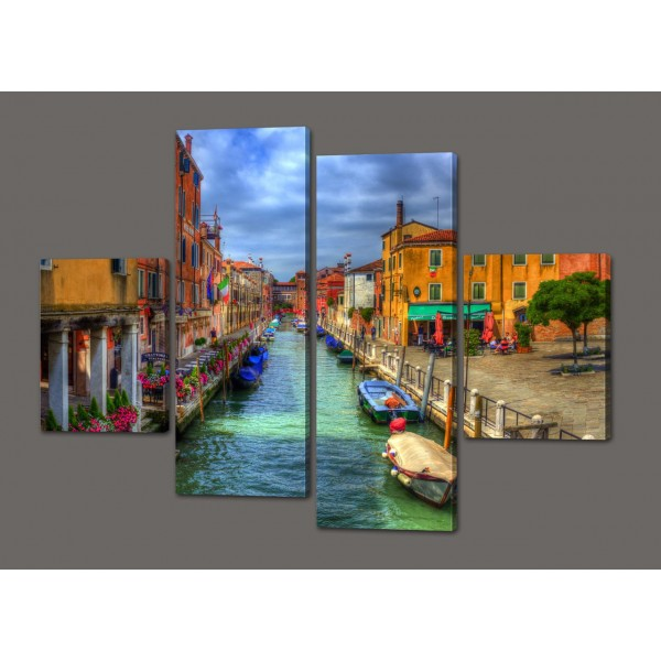 Модульная картина Лето в Венеции 120*93 см Код: 373.4к.120