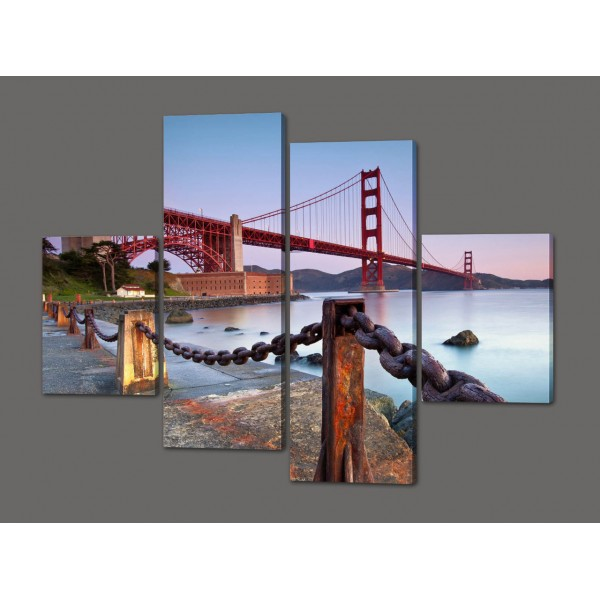 Модульная картина Мост.Золотые ворота.Сан Франциско. 120*93 см Код: 371.4к.120