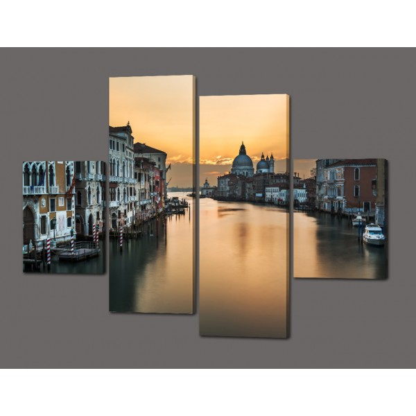 Модульная картина Венеция 120*93 см Код: 350.4к.120