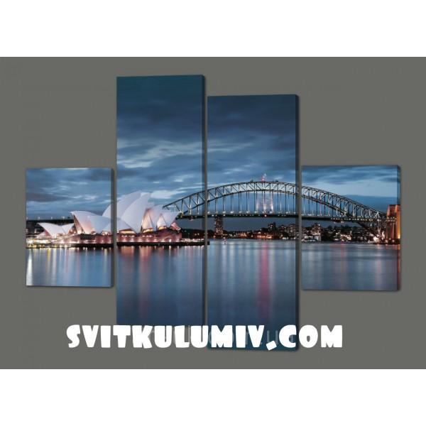Картина модульная Мост.Сидней 120*93 см Код: 221.4k.120
