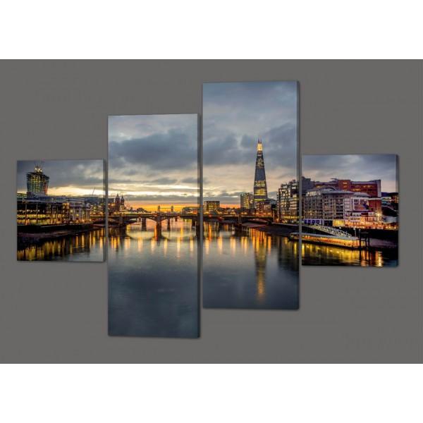 Интерьерная модульная картина Лондонский мост 160*114 см Код: 252.4k.160
