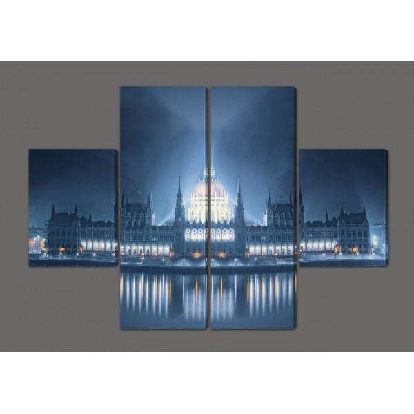Модульная картина Парламент.Будапешт,Венгрия 120*93 см Код: 224.4k.120