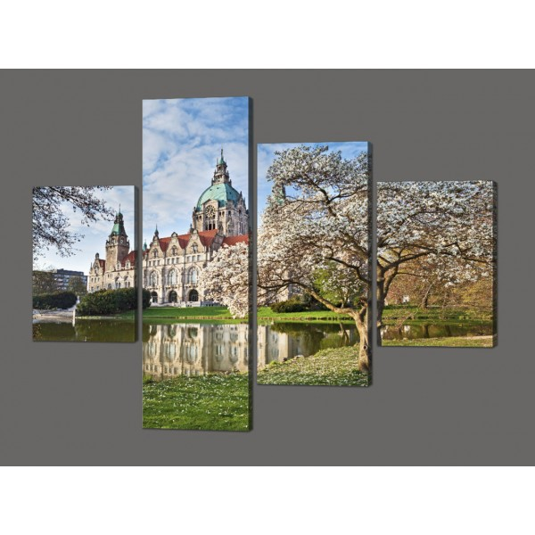 Модульная картина Собор 120*96,5 смрозницуКод: 613.4 к.120