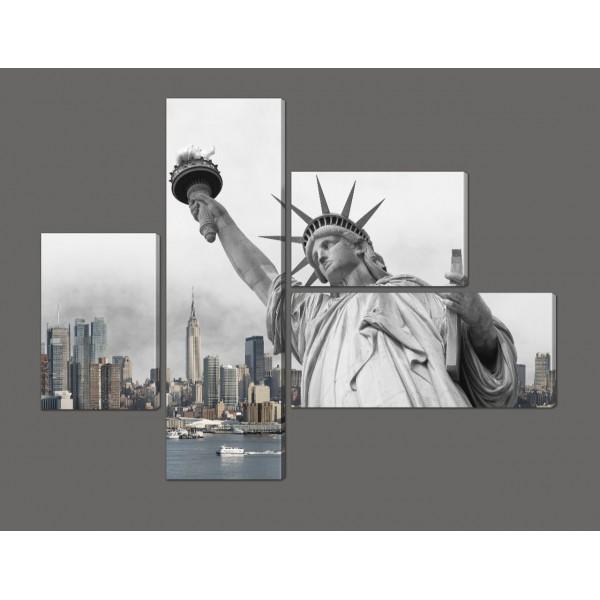 Модульная картина Статуя Свободы 127*96,5 см Код: 611.4к.127