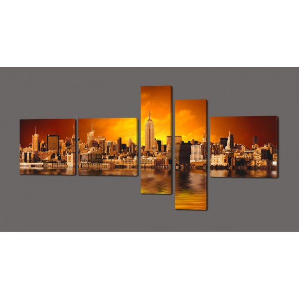 Модульная картина Нью Йорк 160*84 см Код: 608.5к.160