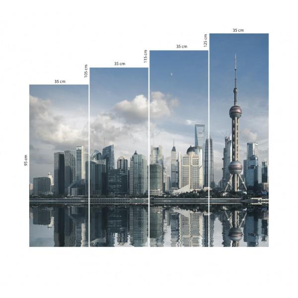 Модульная картина Мегаполис 140*125 см