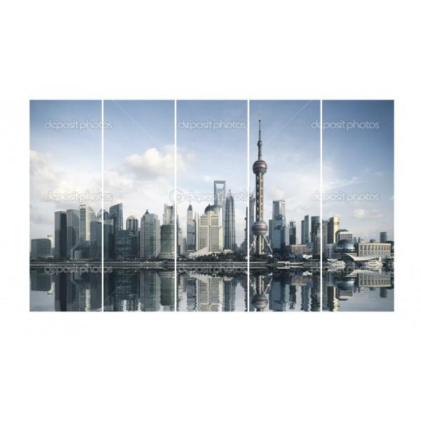 Модульная картина Мегаполис 2-1   175*125 см