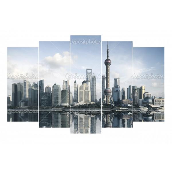 Модульная картина Мегаполис 3-1 175*125 см