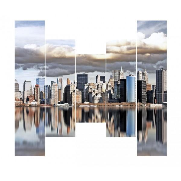 Модульная картина Мегаполис 4-1 175*125 см