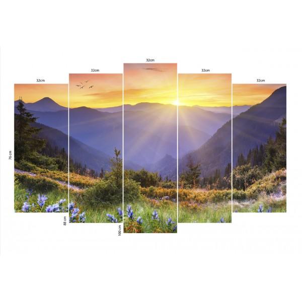 Модульная картина Природа.Горы 1-2  120*93 см