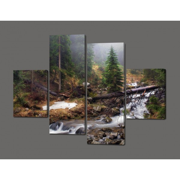 Модульная картина Природа 120*93 см Код: 605.4к.120