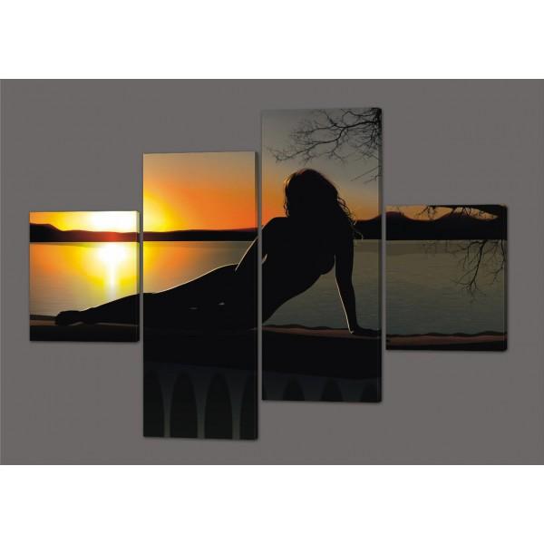 Картина модульная Красивый пейзаж 160*114 см Код: 251.4k.160