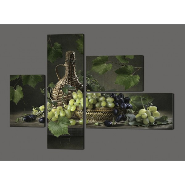 Модульная картина Натюрморт из винограда 127*96,5 см Код: 616.4к.127