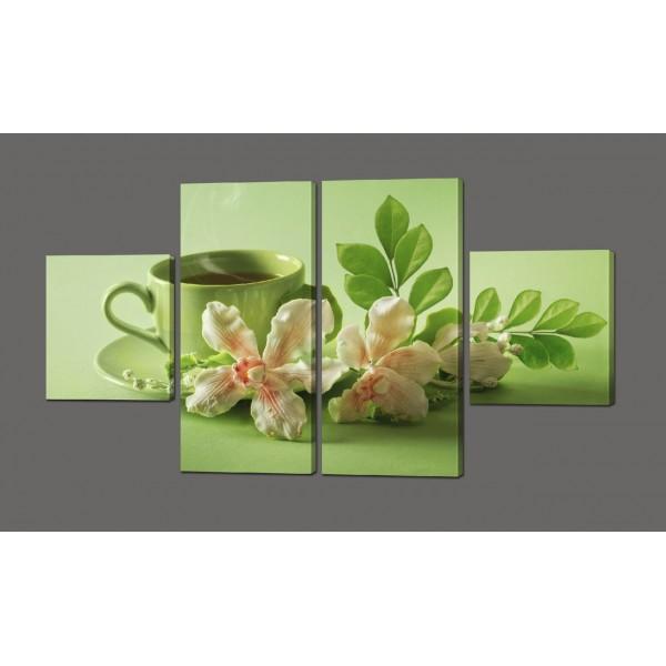 Полиптих Чайная церемония 116*64 см Код: 592.4к.116