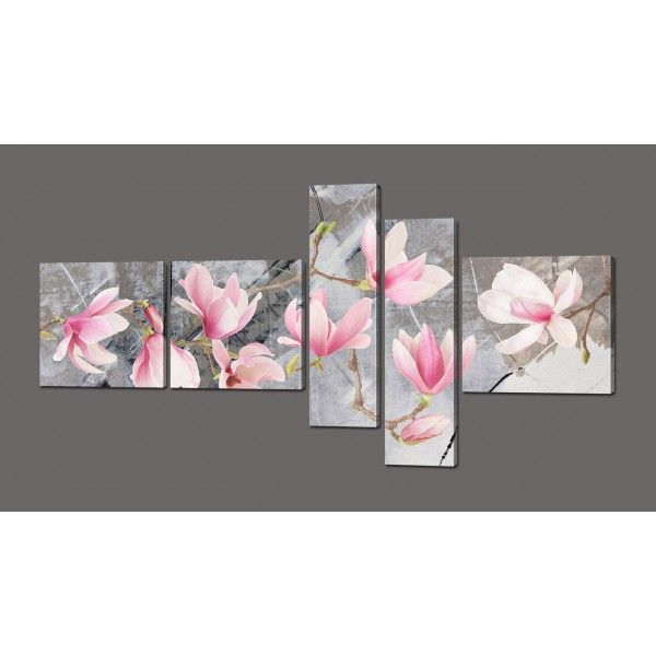 Модульная картина Цветы 160*84 см Код: 610.5к.160