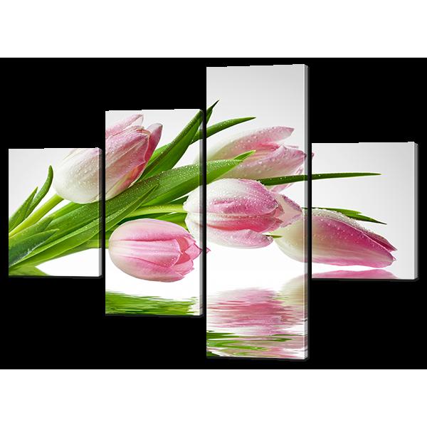 Модульная картина Тюльпаны отражение 126* 93,5 см Код: w6495