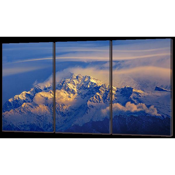 Вид на вершины гор 124* 70 см Код: w7253