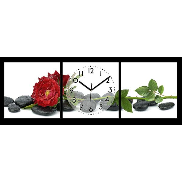 Модульная картина Чайная роза на камнях 124* 40 см Код: w8139