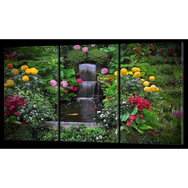 Модульная картина Искусственный водопад 124* 70 см Код: w6743