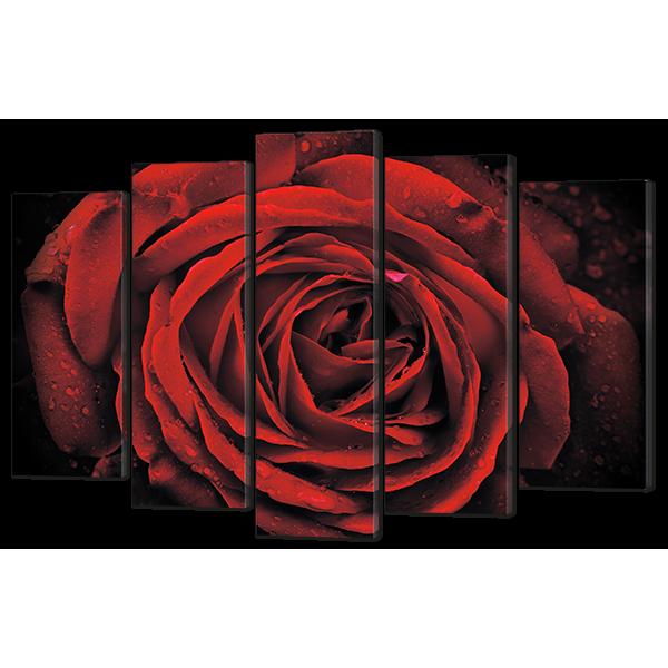 Модульная картина Роза макро 138* 90 см Код: w6468