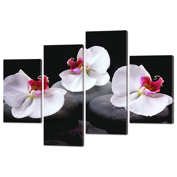 Модульная картина Три орхидеи 126* 82,5 см Код: w723