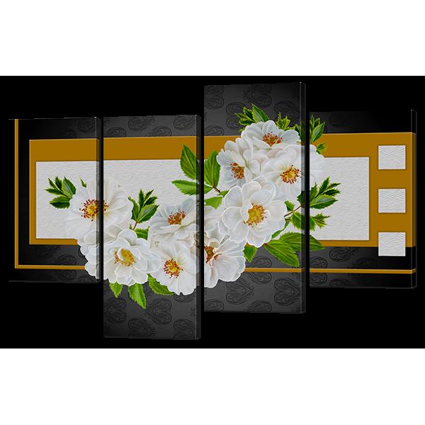 Модульная картина Чайная роза 126* 82,5 см Код: w6689