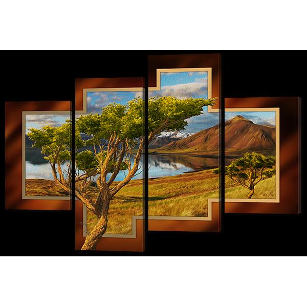 Модульная картина Природный ландшафт 126* 87,5 см Код: w6609