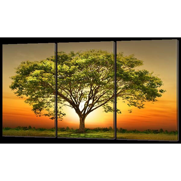 Модульная картина Дерево 124* 70 см Код: w6963